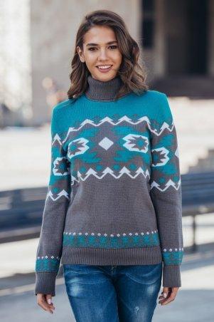 Guash. Теплый вязаный женский свитер «Стрелки». Артикул: 2027