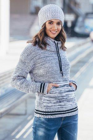 Guash. Теплый вязаный свитер с карманом Кенгуру. Артикул: 2061