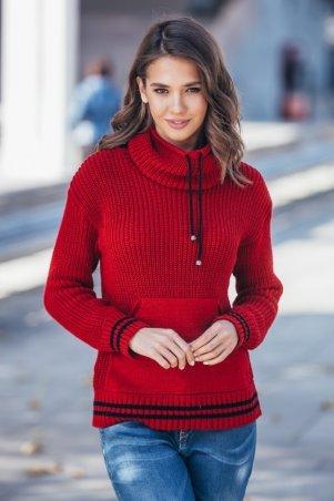 Guash. Теплый вязаный свитер с карманом Кенгуру. Артикул: 2063