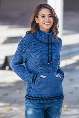 Guash. Теплый вязаный свитер с карманом Кенгуру. Артикул: 2064