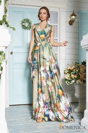 Domenica. Потрясающее летнее шелковое платье. Артикул: Р 2109 L