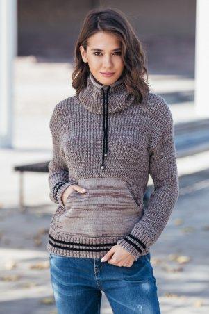 Guash. Теплый вязаный свитер с карманом Кенгуру. Артикул: 2065