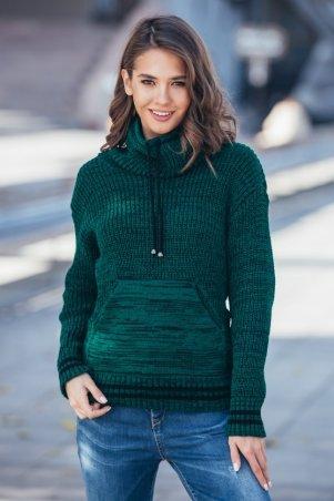 Guash. Теплый вязаный свитер с карманом Кенгуру. Артикул: 2066