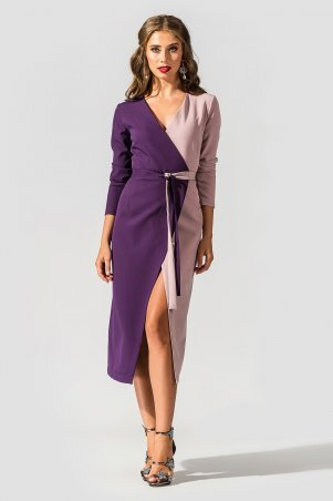 "TessDress. Платье двухцветное ""на запах"" ""Кифалия"". Артикул: 1646"