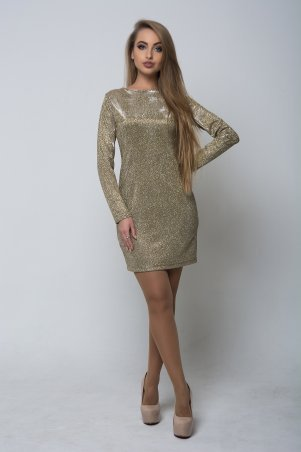 K&ML. Блестящее золотистое  женское платье. Артикул: 508.1