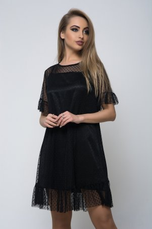 K&ML. Стильное черное женское платье. Артикул: 506