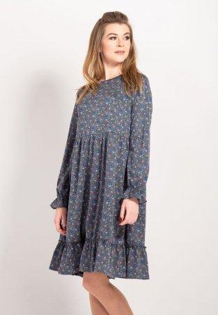 Bessa. Платье клеш в цветочный принт. Артикул: 1747