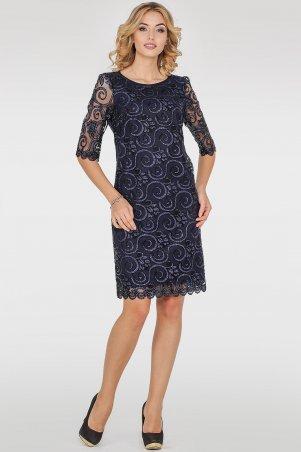V&V. Платье 2525-4.10 синее. Артикул: 2525-4.10