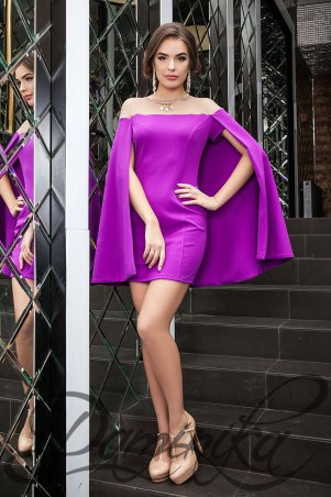 "Daminika: Шикарное коктейльное платье-кейп ""Каролайн"" 11620 F - главное фото"