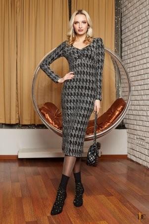 Domenica. Облегающее платье-миди из роскошного люрекса. Артикул: Р 2398