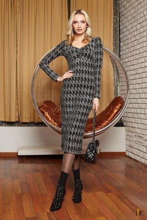 Domenica. Облегающее платье-миди из роскошного люрекса. Артикул: Р 2398 L