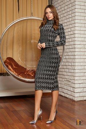 Domenica. Облегающее платье с высоким горлом из роскошного люрекса. Артикул: Р 2391