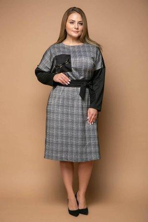 Tatiana. Платье с широким поясом. Артикул: СТОУН черное