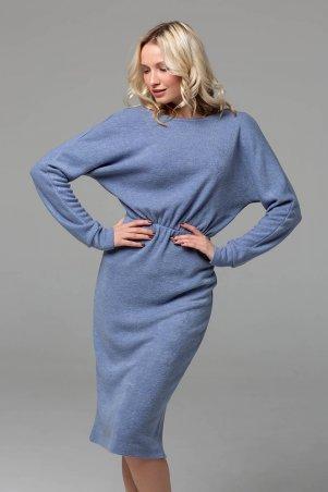 Zefir. Платье миди из ангоры. Артикул: RITA голубое