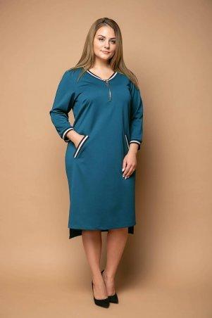 Tatiana. Платье с отделкой тесьмой. Артикул: БЛАНШ бирюзовое