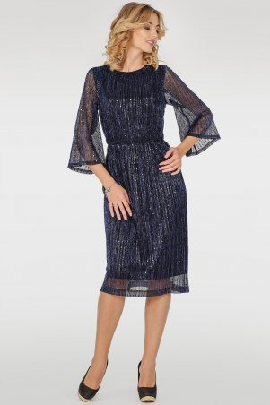 V&V. Платье 2762.10 синее. Артикул: 2762.10