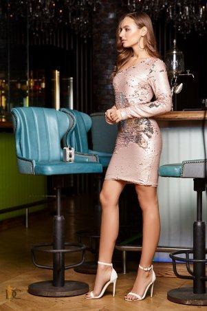 Domenica. Коктейльное ассиметричное платье из пайеток. Артикул: Р 2382 L