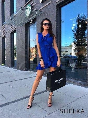 SHELKA. Платье на запах Синее -1. Артикул: SH10