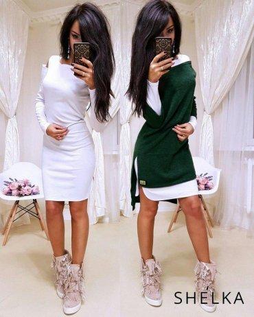 SHELKA. Платье-двойка Изумруд. Артикул: SH09-3