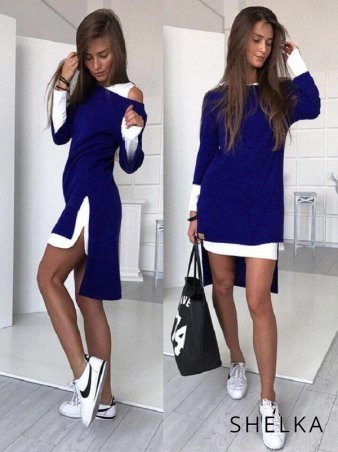 SHELKA. Платье-двойка Синий. Артикул: SH09-4