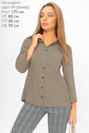 LiPar. Рубашка с асимметричной спинкой Бежевая. Артикул: 2107 бежевый