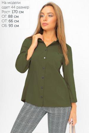 LiPar: Рубашка с асимметричной спинкой Хаки 2107 хаки - главное фото