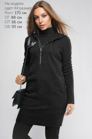 LiPar: Платье-туника Тори Чёрное 3092 черный - главное фото