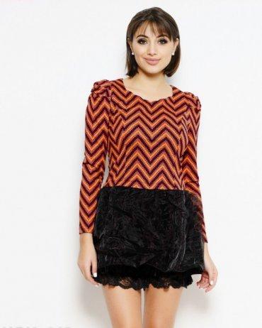 ISSA PLUS: Платья WN1-443_черный/красный - главное фото