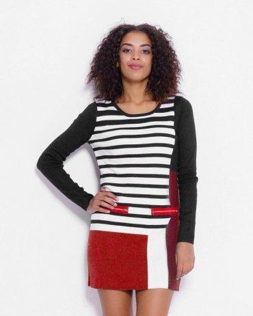 ISSA PLUS: Платья WN-86_черный/красный - главное фото