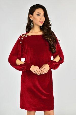 LiPar: Бархатное Платье Красное 3337 красный - главное фото