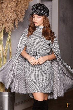 Domenica. Платье с эффектной пелериной. Артикул: Р 2401 L