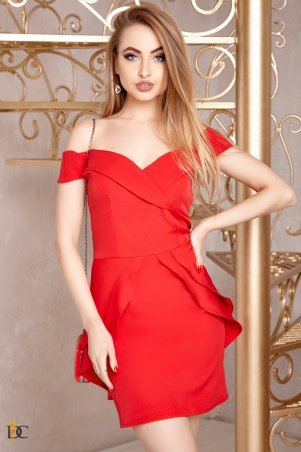 Domenica. Платье короткое со шлейфом. Артикул: Р 2410 L