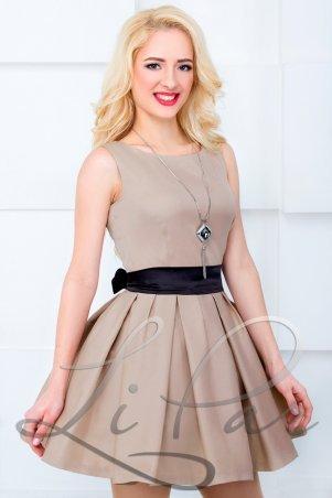LiPar: Платье нарядное Бежевое 608 бежевый - главное фото