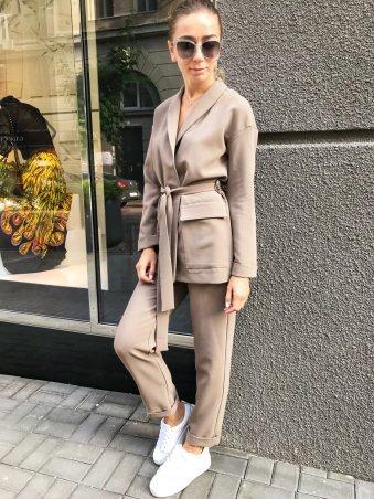 Lavana Fashion. Удлиненный жакет и брюки с подворотом. Артикул: LVN1804-1007