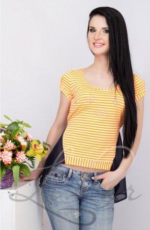 LiPar: Женская майка в полоску Оранжевая 85 оранжевый - главное фото