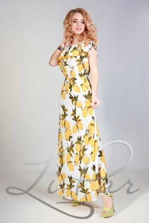 LiPar. Летнее Платье из штапеля Белое. Артикул: 678 белый