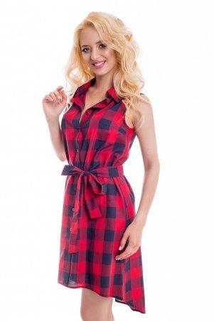 LiPar. Летнее платье в клетку Красное. Артикул: 3047/2 красный