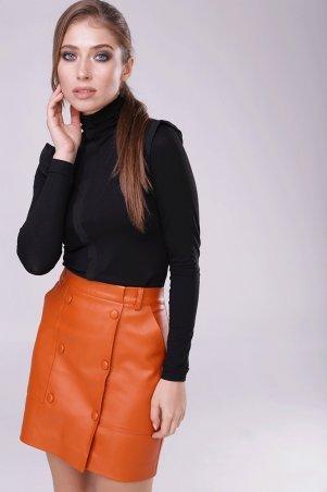 Lavana Fashion. Короткая юбка из эко-кожи. Артикул: LVN1804-1001-5