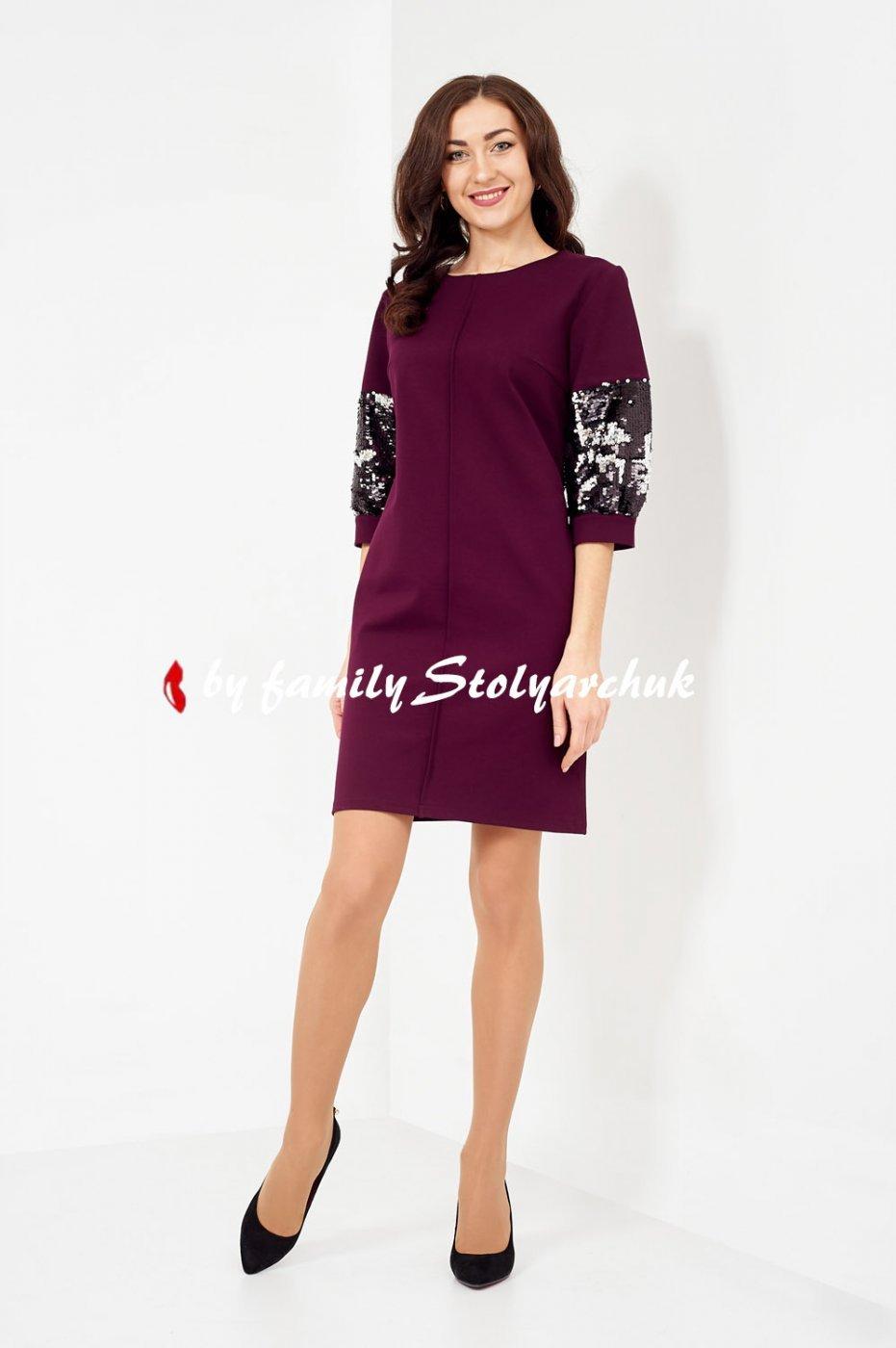 Платье 638-1 от Family Stolyarchuk, цвет бордовый