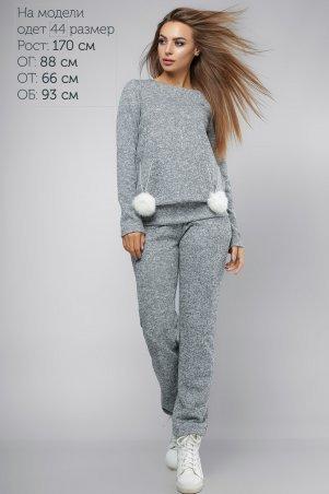 LiPar. Женские спортивные брюки Серые. Артикул: 925 серый