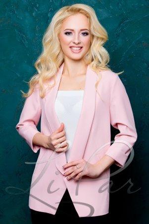 LiPar. Пиджак классический с рукавом 3/4 Розовый. Артикул: 1029 розовый
