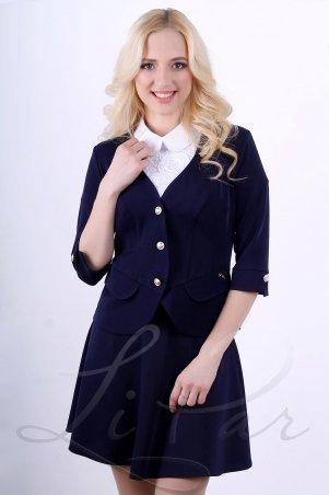 LiPar. Короткий женский пиджак Синий. Артикул: 1015 синий