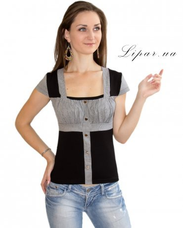LiPar. Женская блузка Чёрная. Артикул: 2013 черный