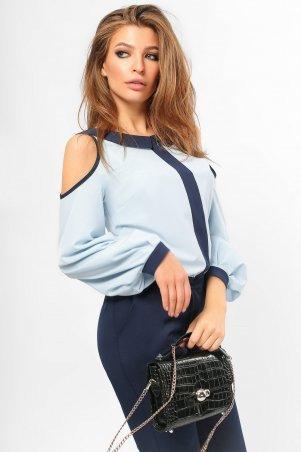 LiPar. Оригинальная Блуза с лампасом Нежно-голубая. Артикул: 2111 нежно-голубой