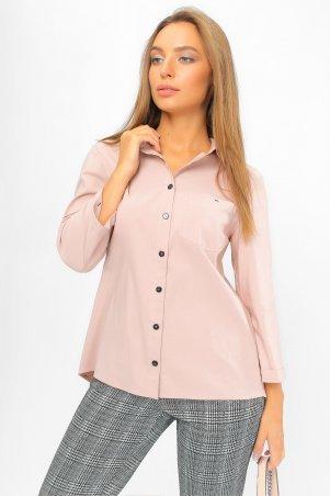 . Рубашка с асимметричной спинкой Пудра. Артикул: 2107 пудра