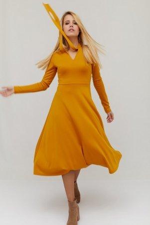 """. Платье """"SIVAS"""" горчичный. Артикул: CRD1814-1923"""