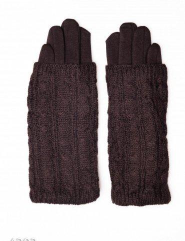 ISSA PLUS. Женские перчатки. Артикул: 4203_темно-коричневый