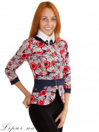 LiPar. Женский пиджак на змейке Красный. Артикул: 1013 красный