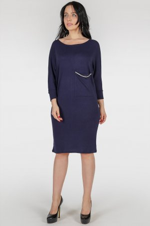 V&V. Платье 410 темно-синее. Артикул: 410