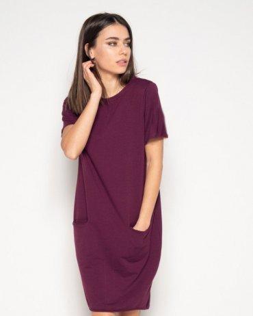 ISSA PLUS: Платья 10411_бордовый - главное фото